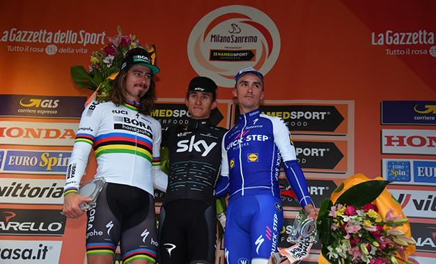Pódio da Milão-San Remo 2017