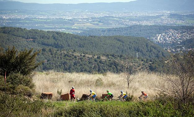 No percurso na abertura da Volta da catalunha