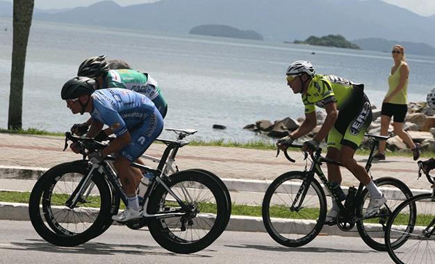 No percurso da prova em Florianópolis Foto: Eduardo Schaucoski