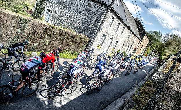 No percurso da Fleche Wallonne 2017
