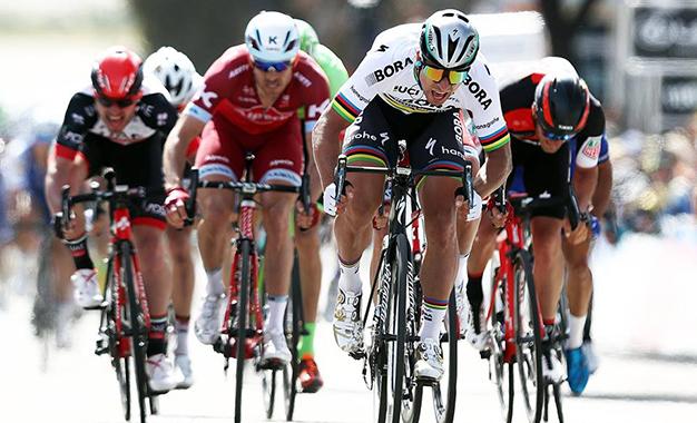 Na chegada da 3ª etapa do Tour da Califórnia