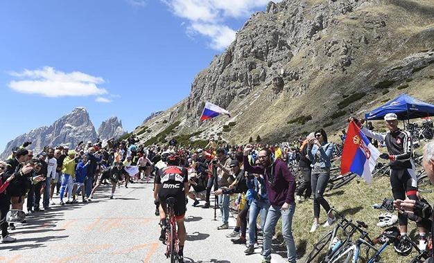 No percurso nas Dolomitas