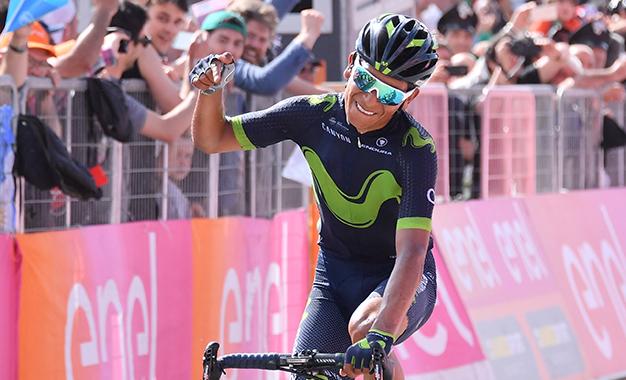 Quintana cruzou sozinho a chegada ao Blockhaus