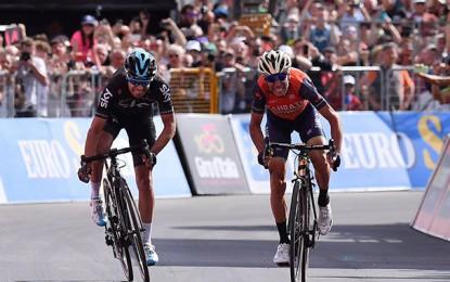 Giro: Nibali vence etapa rainha; Dumoulin tem dor de barriga