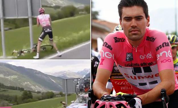 Dumoulin sentir dor de barriga e teve de se aliviar na etapa rainha do Giro