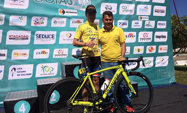 Mairicio Knapp é o novo camisa amarela da Volta de Goiás