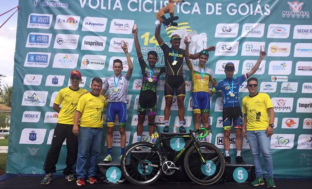 Pódio da 4ª etapa da Volta de Goiás