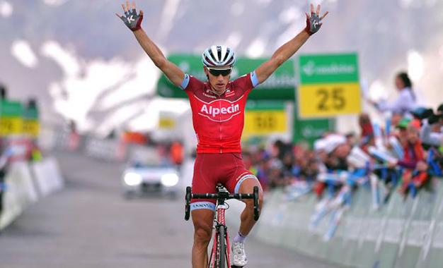 Simon Spilak na vitória do Tour da Suíça
