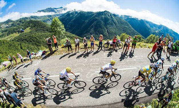 No percurso da 13ª etapa do Tour de France