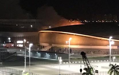 Incêndio em velódromo olímpico será tratado como crime federal
