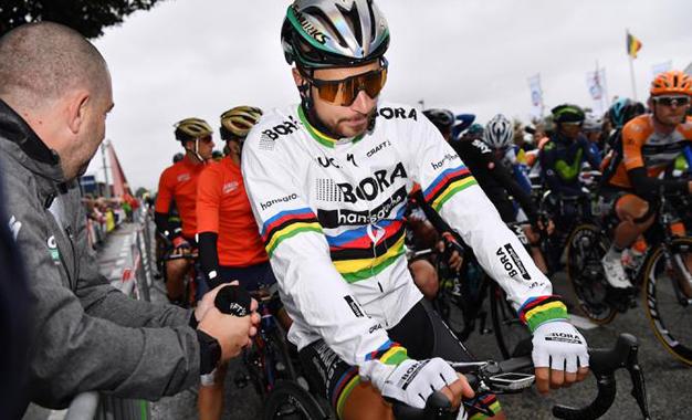 Sagan na largada da 6ª etapa do Binck Bank Tour