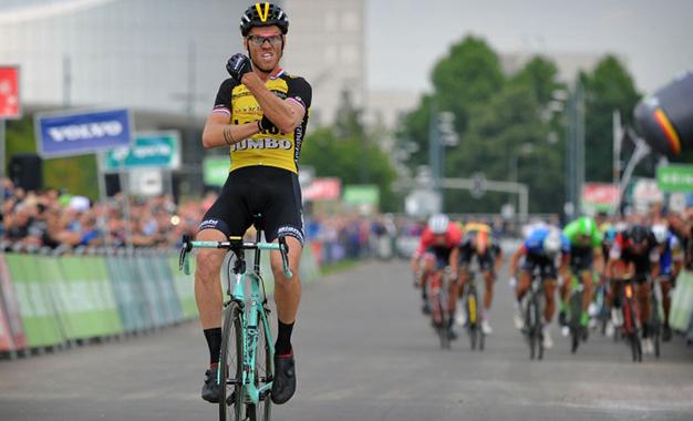 Lars Boom na vitória da 5ª etapa do BinckBank Tour