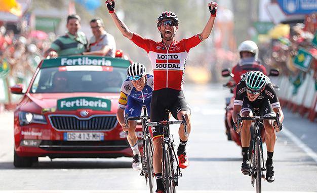 Tomasz Marczynski na vitória da 6ª etapa da Vuelta