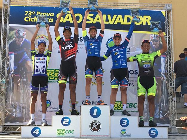 Pódio da Prova Ciclística de São Salvador