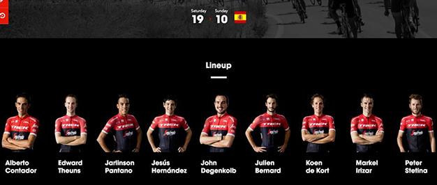 A Trek para a Vuelta 2017