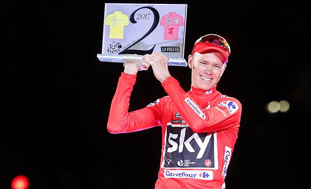 Froome na festa da vitória dupla Tour-Vuelta