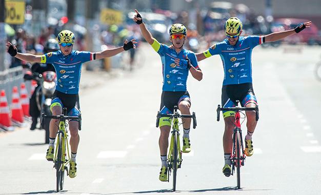 Trio de Ribeirão Preto comemora a vitória Foto: Ivan Storti