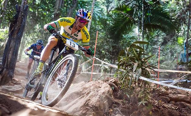 O brasileiro Henrique Avancini no Mundial de MTB