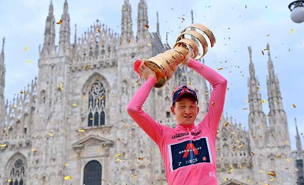 Giro 2020: Geoghegan Hart é o campeão; Ganna vence crono final