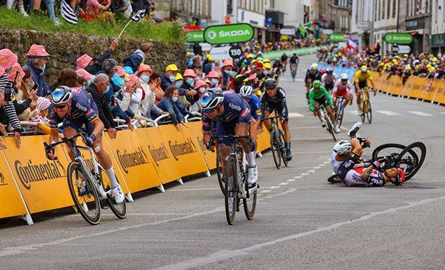 Tour 2021: Merlier vence 3ª etapa em mais um dia com muitas quedas