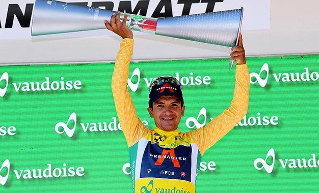 Tour da Suíça: Carapaz é o campeão; Gino Mäder vence etapa final