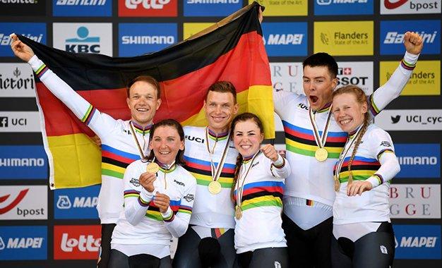 Flanders 2021: Alemanha é ouro na crono de revezamento misto
